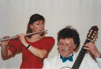 John Edwards with flautist Nicky Russell